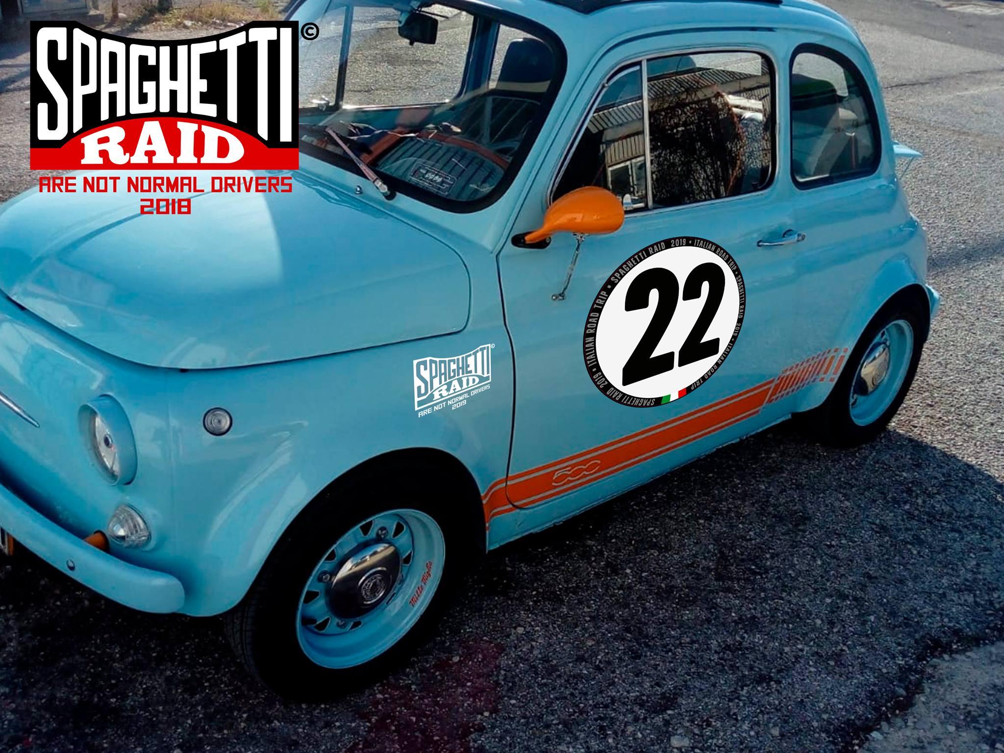 Team 2CV UMBILICUS Italia #22 FIAT 500 1967 CIttà Rieti