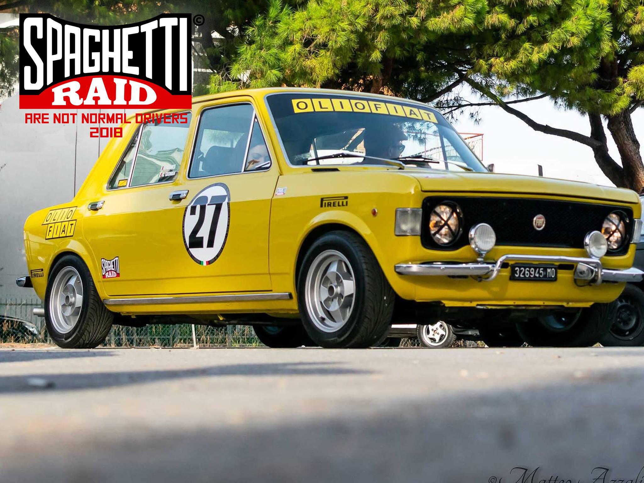 Team PORTUNO #27 FIAT 128 BERLINA 1100cc del '74 Città: Pesaro
