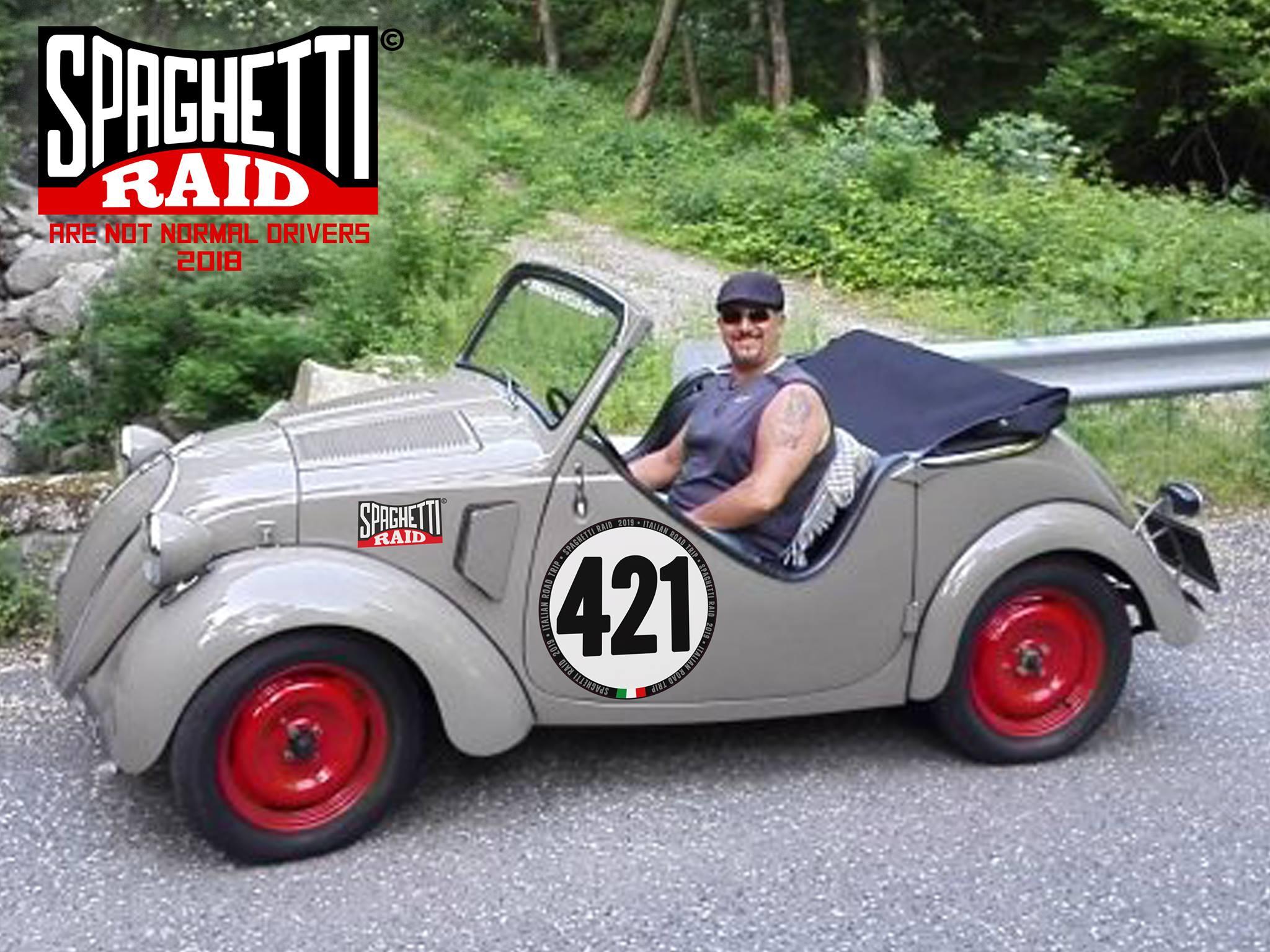 Team TOPX #421 FIAT 500 TOPOLINO ROADSTER del'42 CIttà Parma