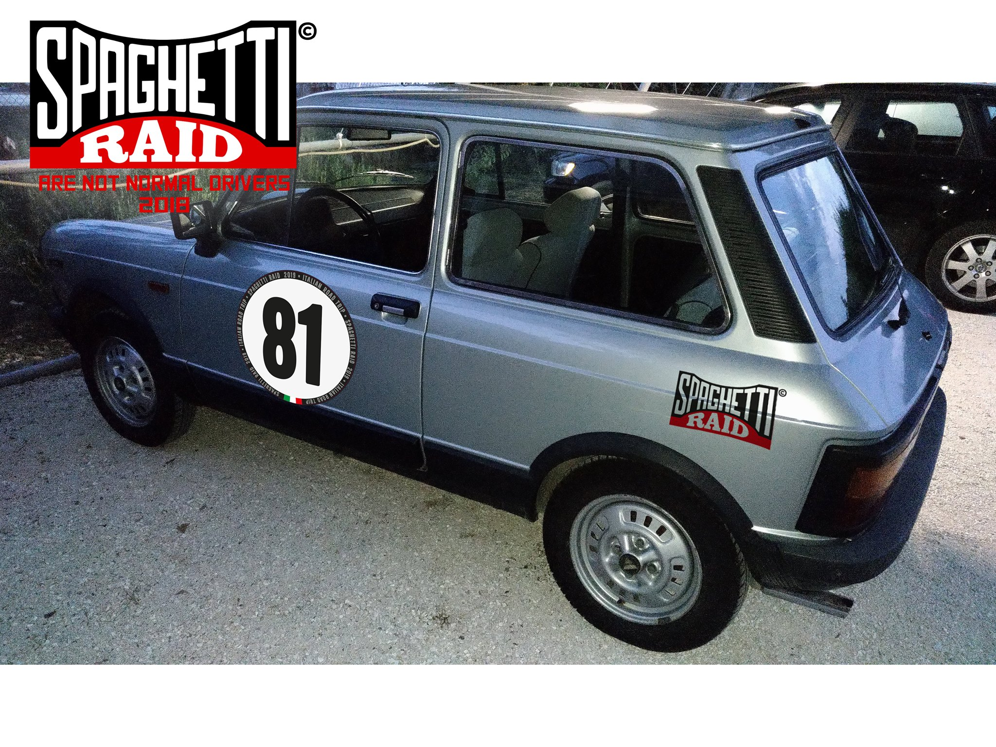 Team THE CINQUEDODICI #81 AUTOBIANCHI A112 ELITE del 1981 città Perugia