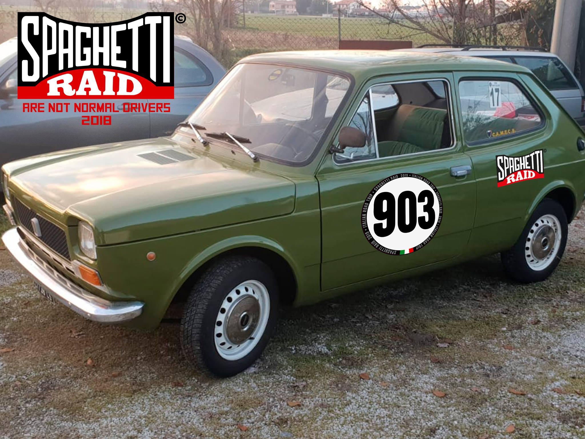 Team IL PASSATORE #903 FIAT 127 900cc del 1973 città Cesena FC