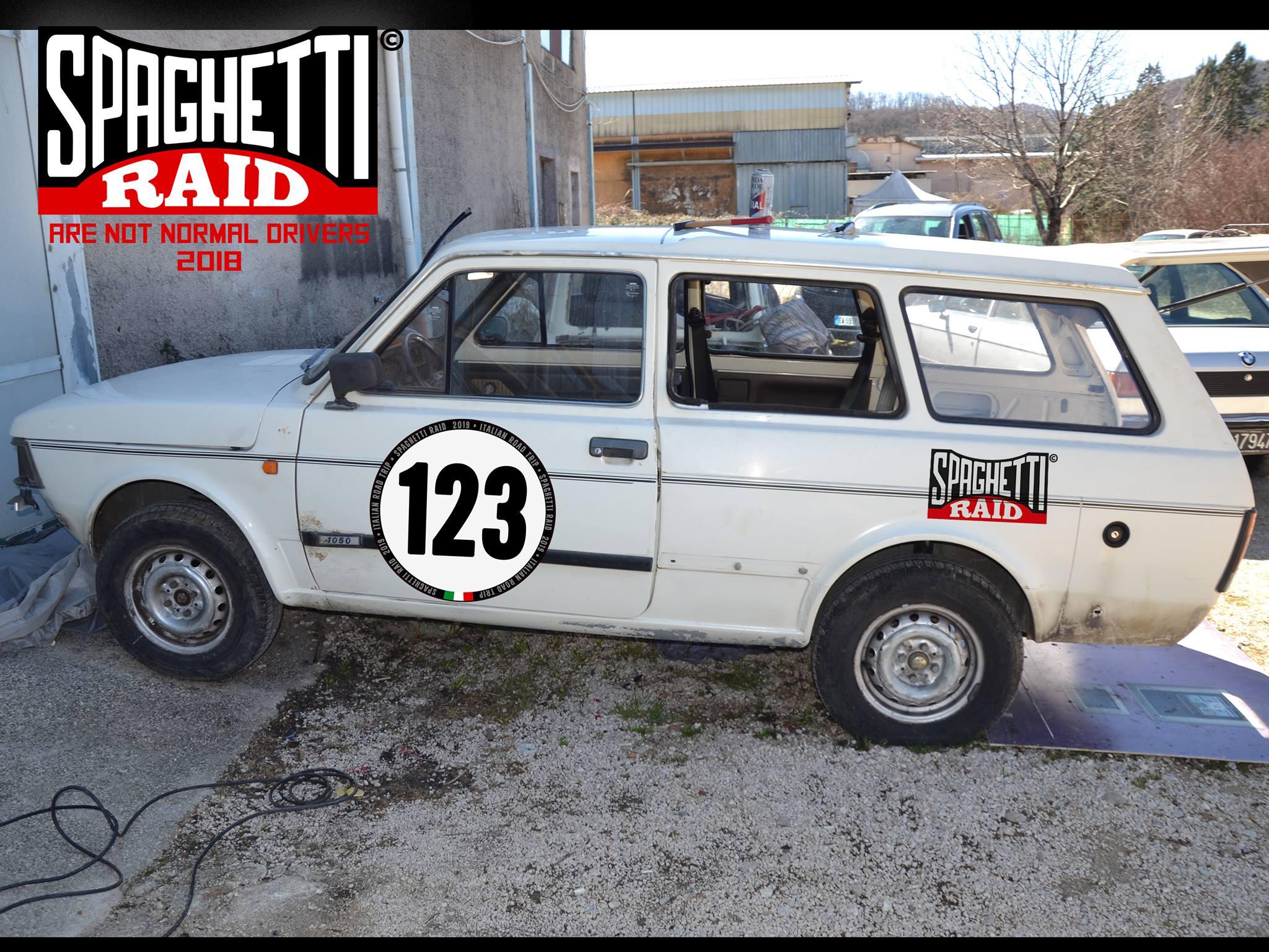 Team HARD RIETI #123 FIAT 127 PANORAMA 1050cc del '85 CIttà: Rieti