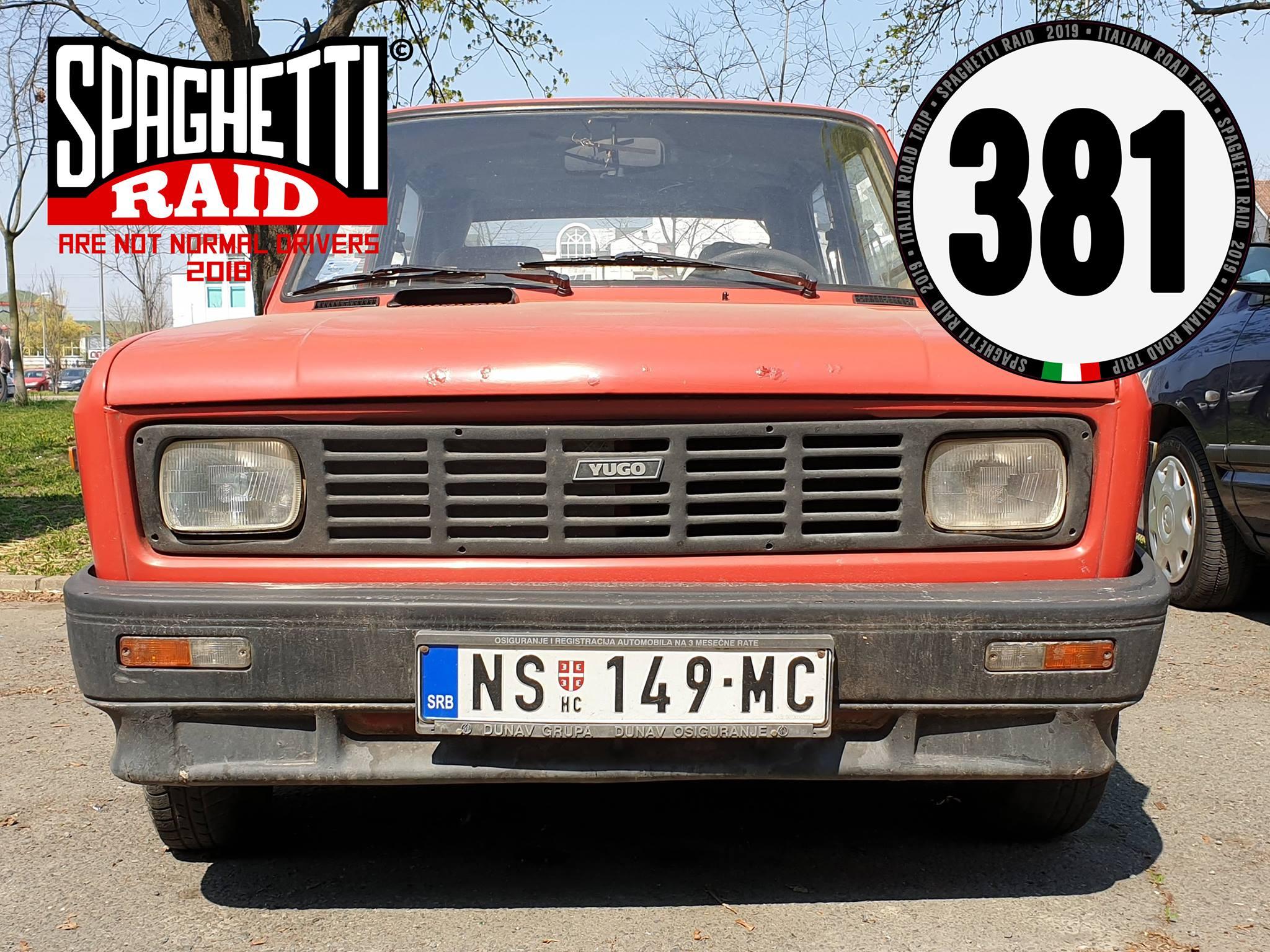 Team BALKAN #381 ZASTAVA 101 1100cc del '86 Città: Novi Sad - SERBIA